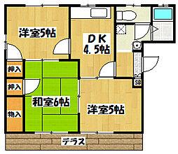 ライフインビレッジ3[1階]の間取り
