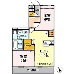 新築D-roomグレイスコート湘南[3階]の間取り