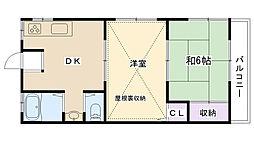 メゾン・ド・広田[203号室]の間取り
