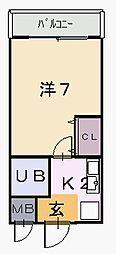 リンクスイン東大阪Part1[1階]の間取り