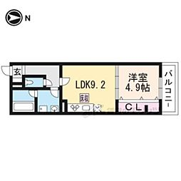 JR東海道・山陽本線 JR総持寺駅 徒歩12分の賃貸アパート 1階1DKの間取り