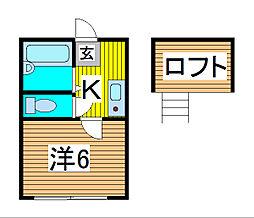 埼玉県さいたま市南区曲本4丁目の賃貸アパートの間取り