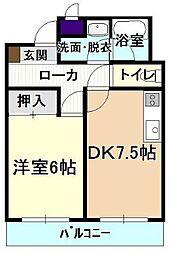 小原ビルII[5階]の間取り