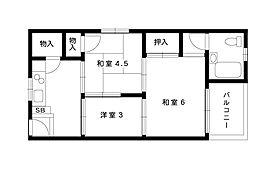 グランディア東神戸[305号室]の間取り