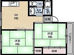 サンハイツ諏訪[2階]の間取り