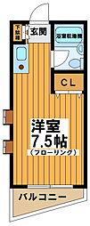 東京都世田谷区北沢5丁目の賃貸マンションの間取り