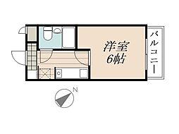 JR京浜東北・根岸線 北浦和駅 徒歩9分の賃貸マンション 4階1Kの間取り