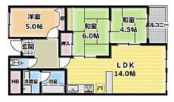 バーンフリート大和田[3階]の間取り