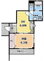 大阪府守口市大枝西町の賃貸マンションの間取り