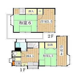[一戸建] 神奈川県横須賀市林2丁目 の賃貸【/】の間取り