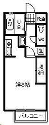 リバティハウス[205号室]の間取り