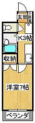 石原マンション[402号室]の間取り