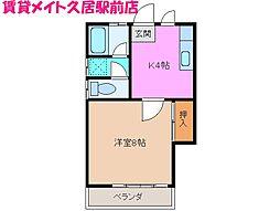 コーポ笠取[2階]の間取り
