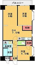 市ヶ尾センタービル[501号室号室]の間取り