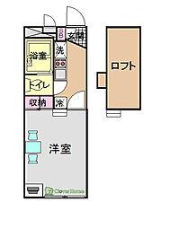 神奈川県相模原市中央区星が丘2丁目の賃貸アパートの間取り