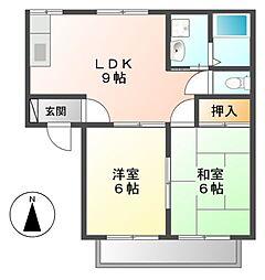 オレンジファーム[2階]の間取り