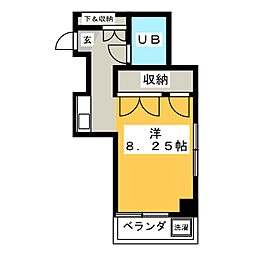 ベルコート若宮[4階]の間取り