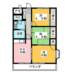 YKマンション[2階]の間取り