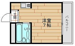 H2O市岡元町[5階]の間取り