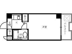 大阪府堺市堺区陵西通の賃貸マンションの間取り
