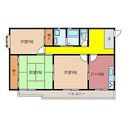 アーバンスカイ(新矢田)[2階]の間取り
