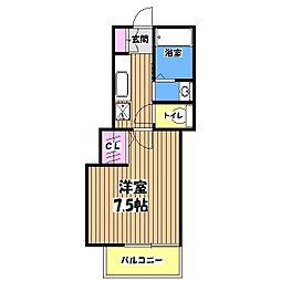 フロンティア[3階]の間取り