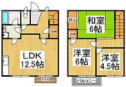 [タウンハウス] 東京都東村山市久米川町4丁目 の賃貸【/】の間取り