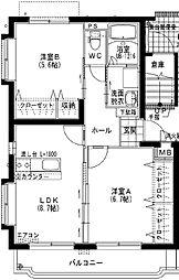 ユーミー小松A[4階]の間取り
