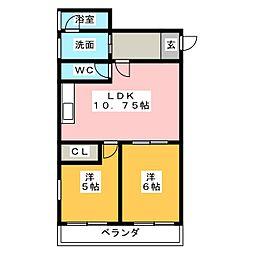 第3フクマルビル[9階]の間取り
