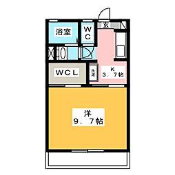 アムール美鈴 B[1階]の間取り