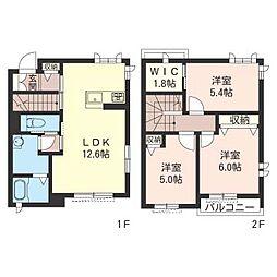 アンファミーユ[1階]の間取り