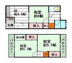 [一戸建] 大阪府豊中市庄内栄町2丁目 の賃貸【/】の間取り