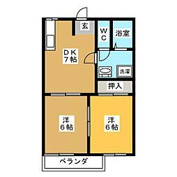 タウン勝川橋[2階]の間取り
