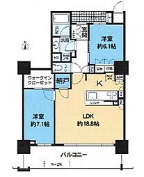 大阪福島タワー[35階]の間取り
