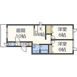 ジラソーレ円山[2階]の間取り