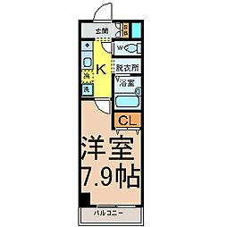 愛知県名古屋市中村区黄金通5の賃貸マンションの間取り