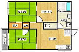 フォーブルハウス中園B[1階]の間取り