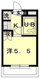 東京都世田谷区上野毛3丁目の賃貸マンションの間取り