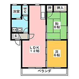 メゾンMIKI A棟[2階]の間取り