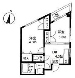 フラワーハウス[3階]の間取り