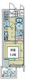 アール大阪グランデ 8階1Kの間取り