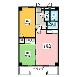 オーキッドマンション内幸[5階]の間取り