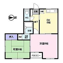 30スペース[303号室]の間取り