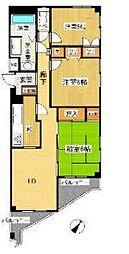 神奈川県横浜市戸塚区平戸町の賃貸マンションの間取り