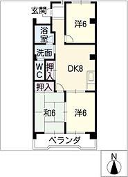 美杉マンション[2階]の間取り