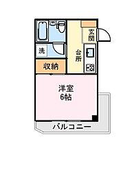 ハイツヒラヤマ[302号室]の間取り