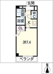 クレセール新栄[6階]の間取り