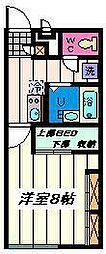 JR京浜東北・根岸線 大宮駅 バス24分 庚申塚下車 徒歩6分の賃貸アパート 1階1Kの間取り