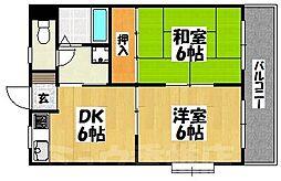 福岡県福岡市東区舞松原5丁目の賃貸マンションの間取り
