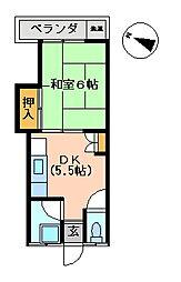 古川アパート[102号室]の間取り